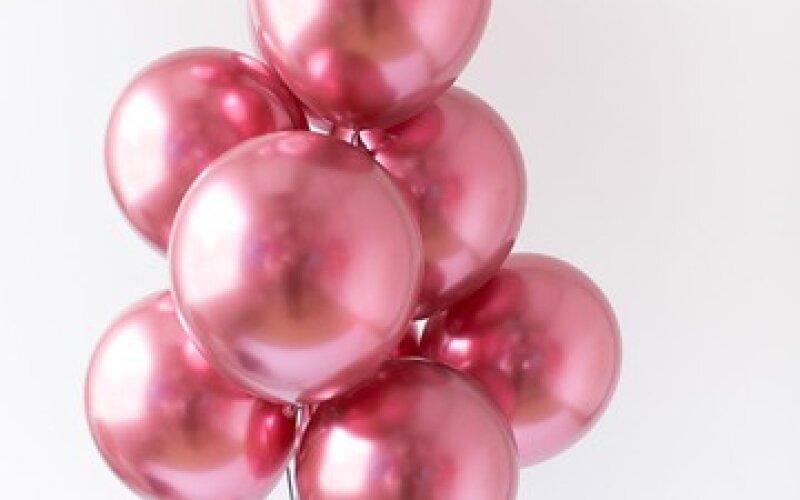 Связка из гелиевых шаров хром