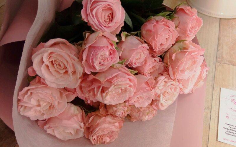 Роза кустовая пионовидная