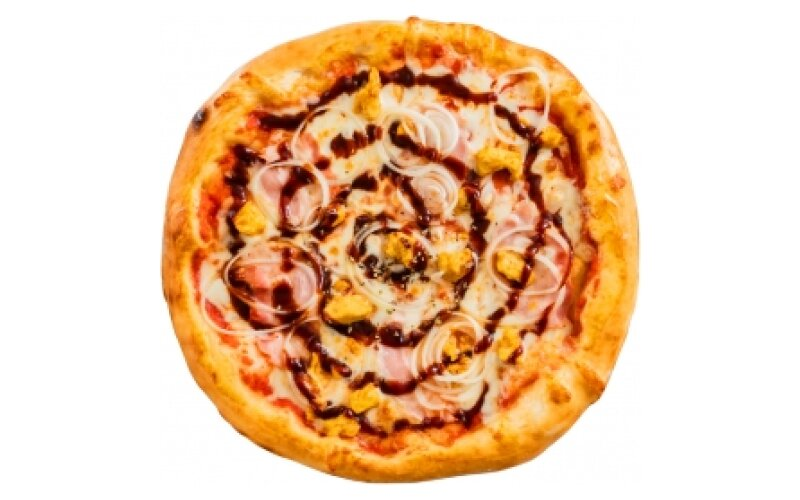 Пицца «Чикен барбекю» с пышным краем