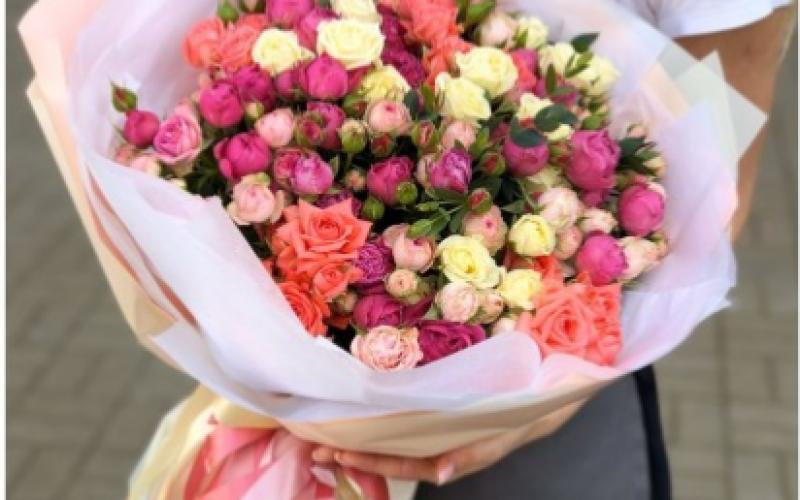 Букет «Яркий» Из Кустовых Роз