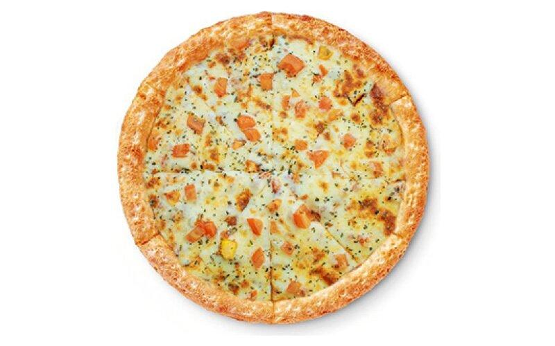 Пицца «Чесночный цыплёнок» на тонком тесте
