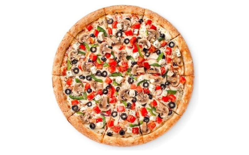 Пицца «Овощи и грибы» на традиционном тесте