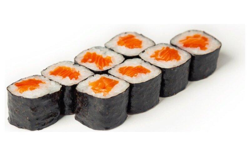 Мини-ролл с копчёным лососем