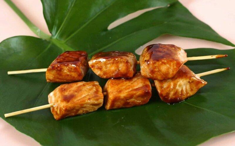 Шашлычки из лосося «Терияки»