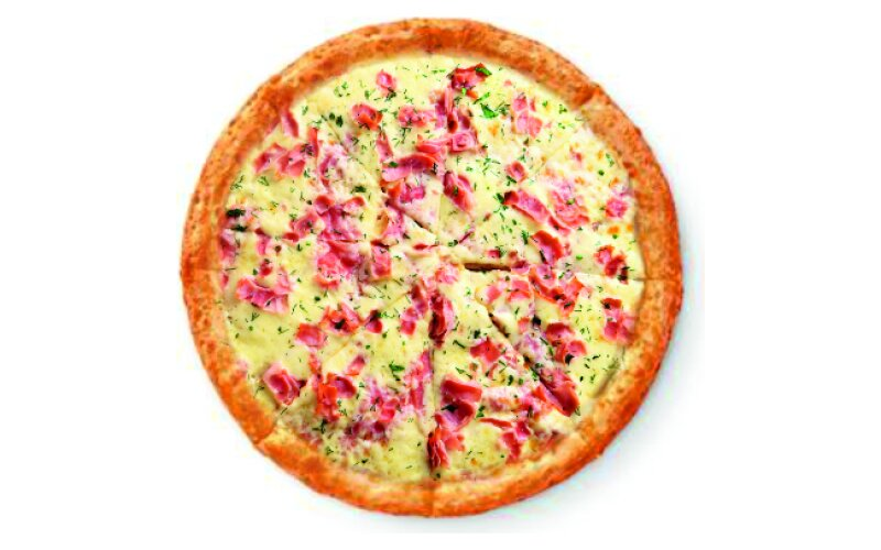 Пицца «Карбонара» с беконом