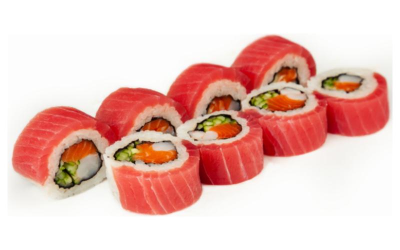 Ролл с тунцом и лососем