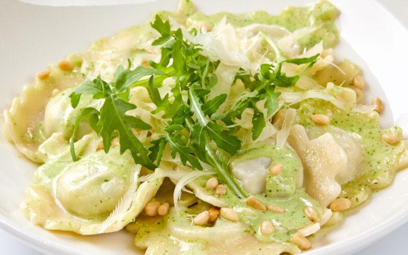 Равиоли с сыром «Рикотта» и шпинатом