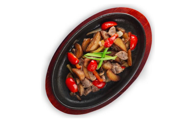 Сковородка «Сытная» со свининой