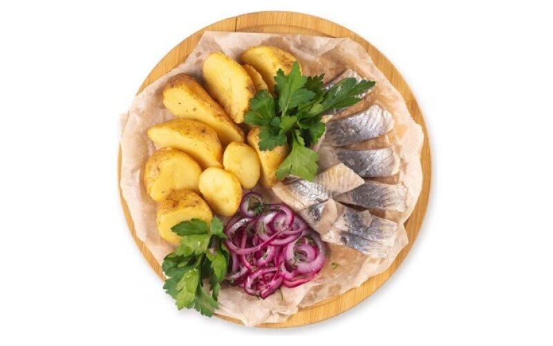 Сельдь с картофелем «По-деревенски»