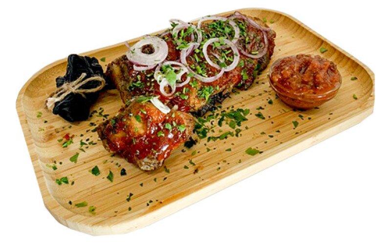 Рёбра свиные с соусом «Барбекю»