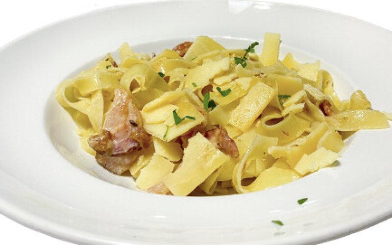 Паста «Тальятелле» с соусом «Карбонара»
