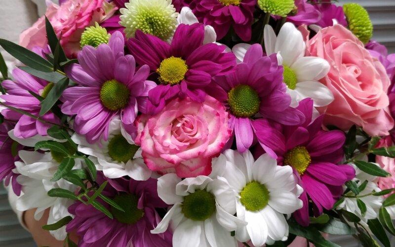 Коробка с цветами «Яркие моменты»