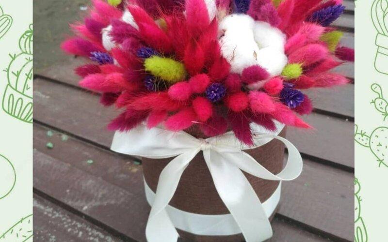 Коробка с сухоцветами «Яркие моменты»