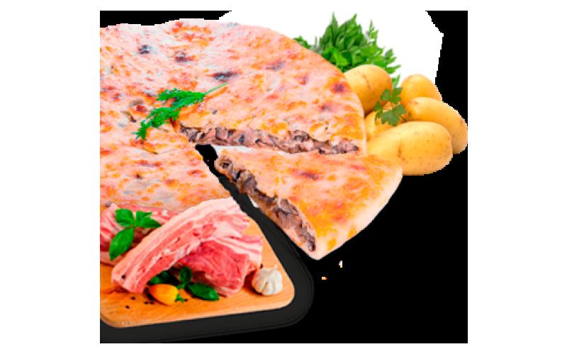 Осетинский пирог с картофелем и грудинкой