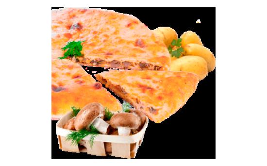 Осетинский пирог с картофелем и грибами,сыром