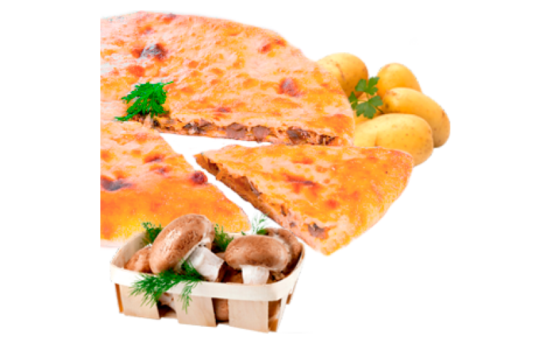 Осетинский пирог с картофелем и грибами, сыром