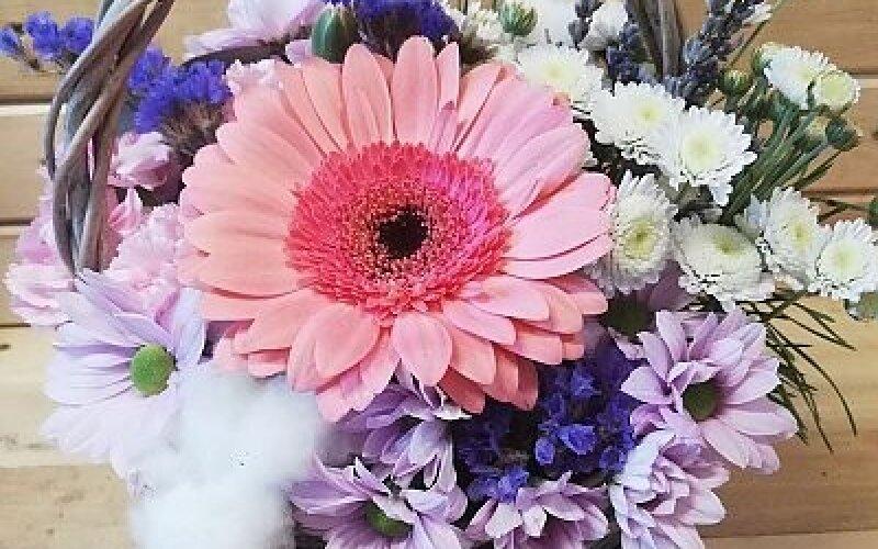 Цветочная корзина «Прованс»
