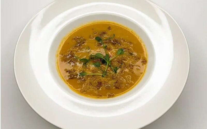 Суп «Биск» с лососем