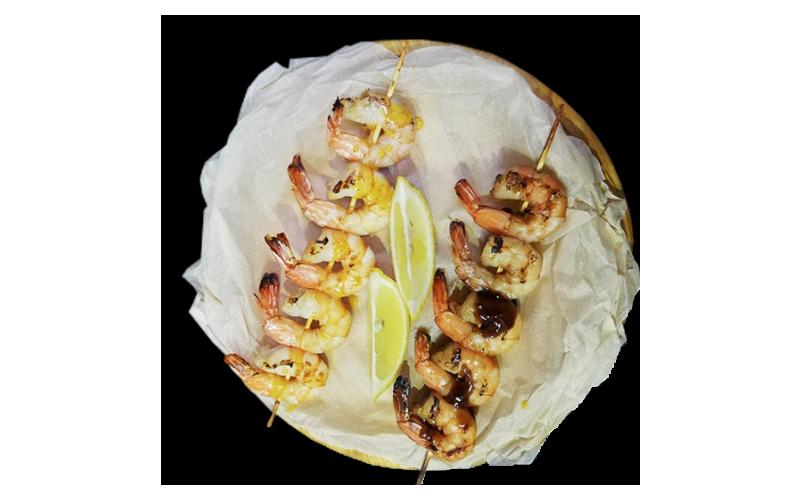 Креветки на гриле в соусе «Манго-чили» или «Терияки»