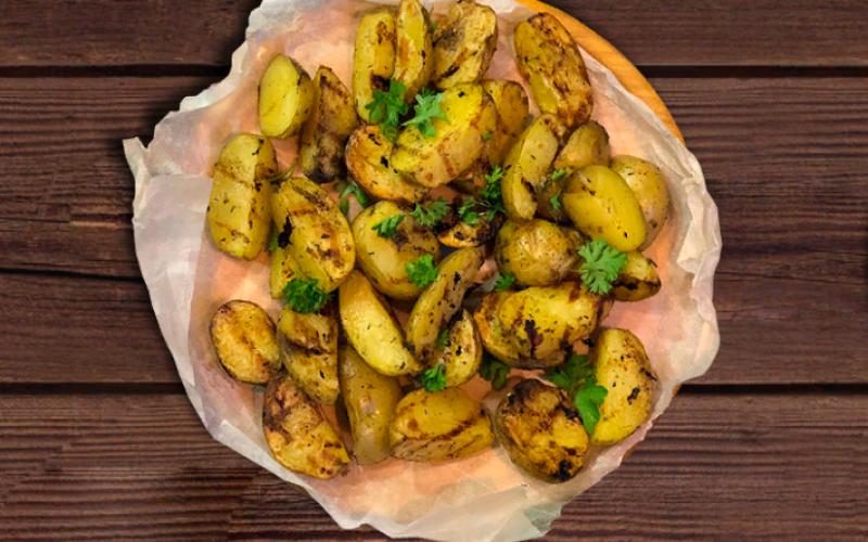 Дольки картофельные на гриле