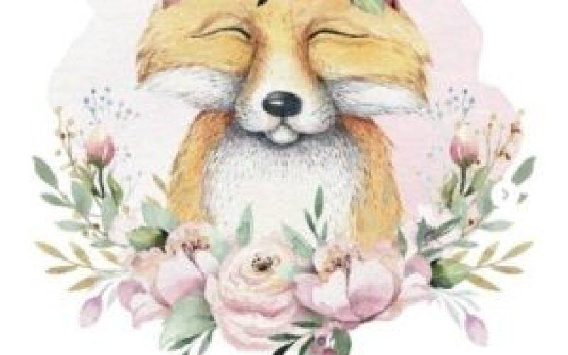 Открытка «Милая лиса»
