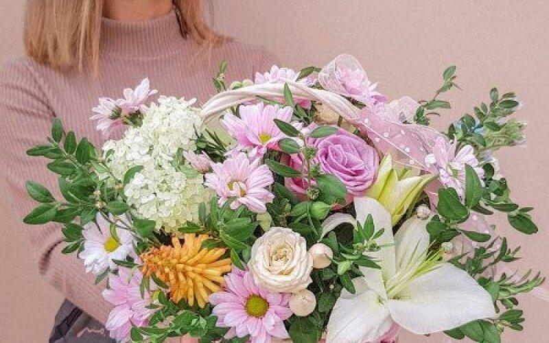 Корзина с цветами № 6