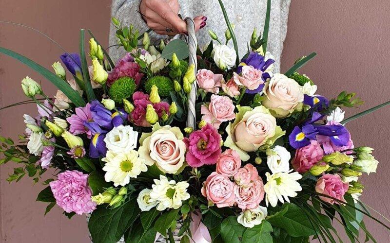 Корзина цветов «Райский сад»