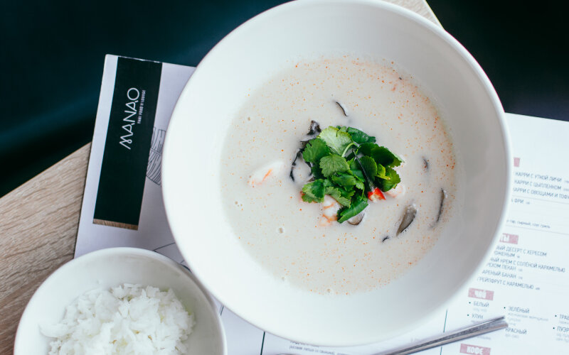 Суп «Том-кха» с креветками