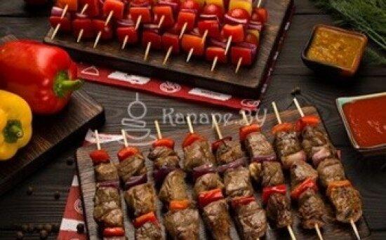 Мини-шашлык из баранины с овощами-гриль
