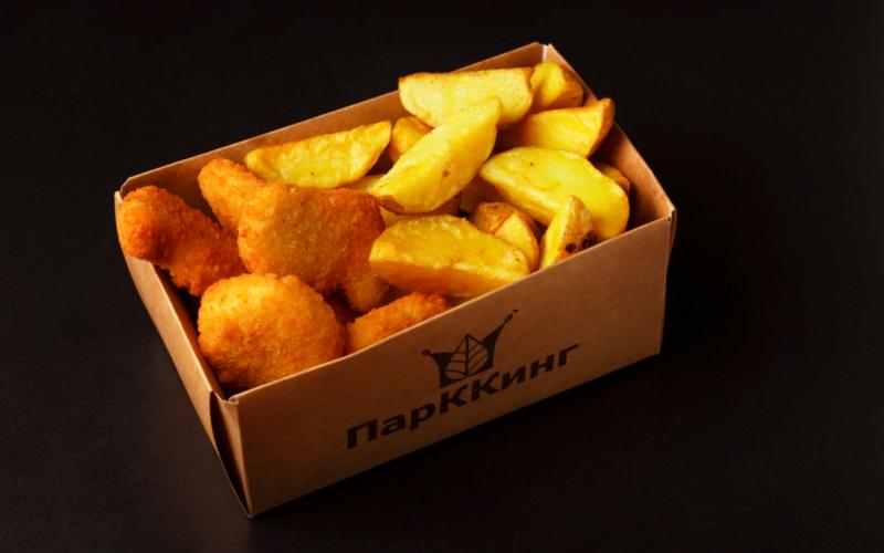 Микс-бокс «Куриные наггетсы с картофелем по-деревенски»