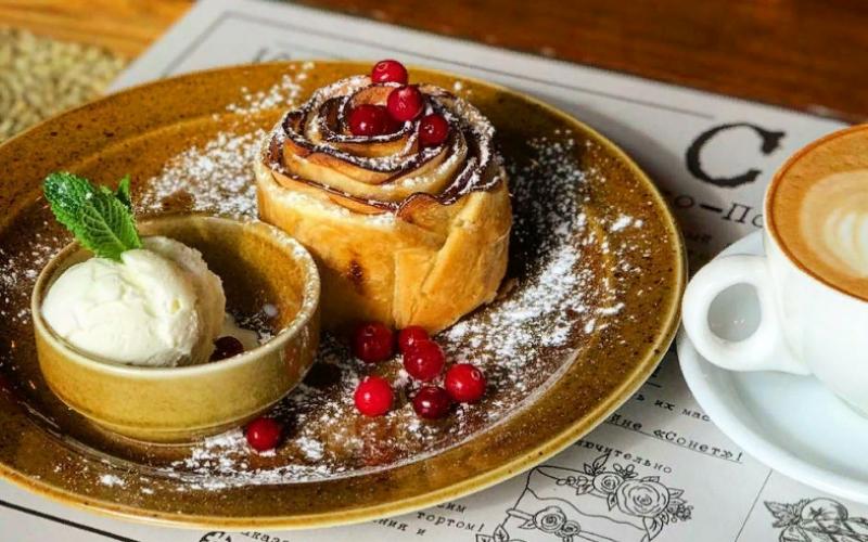Десерт «Завиванец с яблоком»