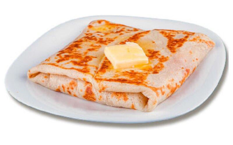 Блин с грибами и сыром