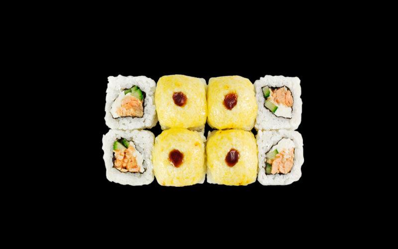 Ролл запечённый «Нежный» с лососем