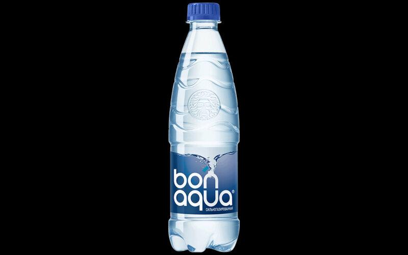 Вода «Бон-Аква» сильногазированная