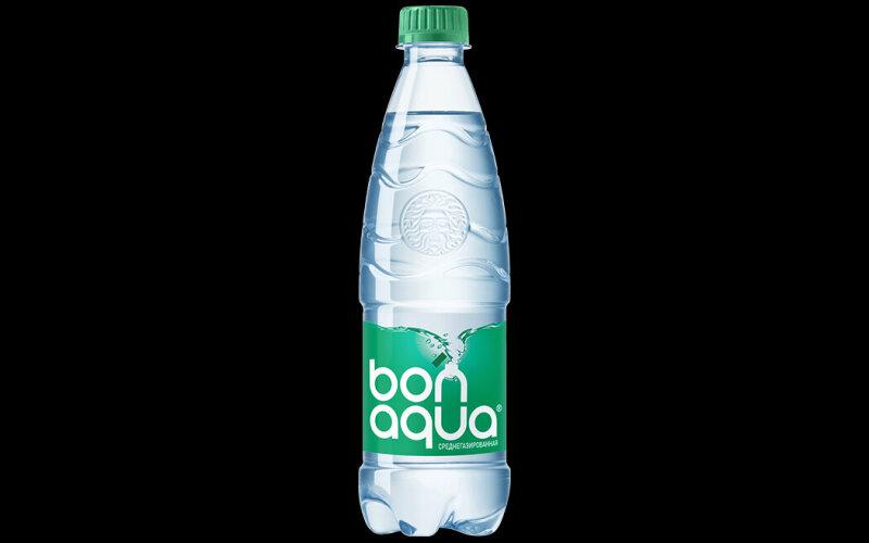 Вода «Бон-Аква» среднегазированная