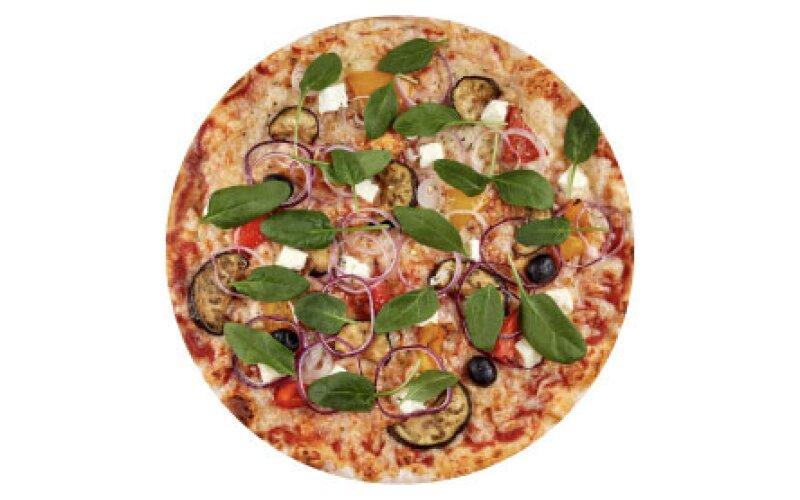 Пицца с запечёнными баклажанами и пышным краем