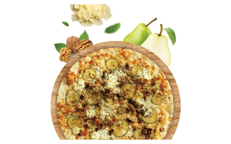 Пицца с грушей и голубым сыром