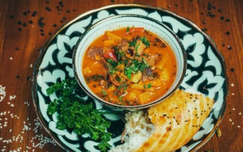 Суп «Лагман»