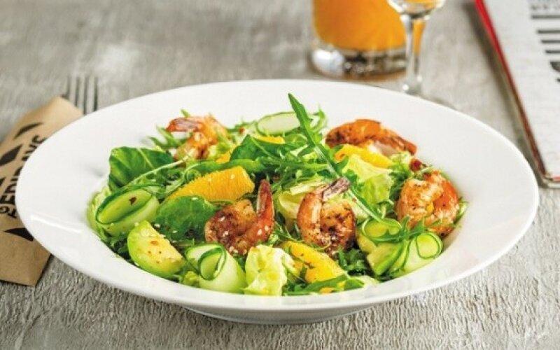 Салат «Шримп&авокадо»