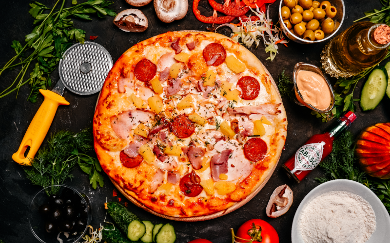 Пицца «Тропикана»