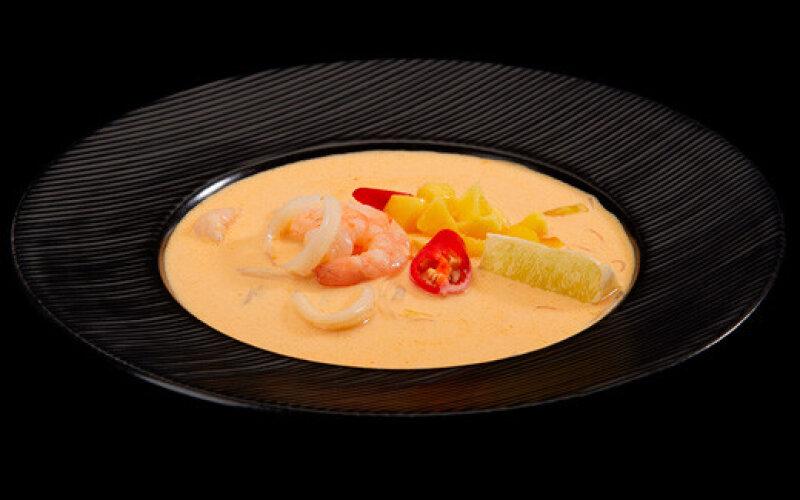 Тайский суп «Карри» с морепродуктами
