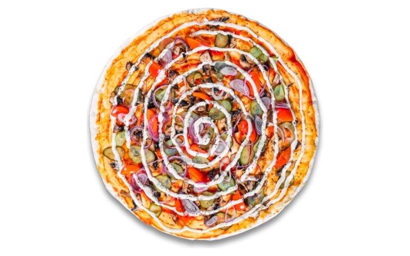 Пицца «Грибы и черри»