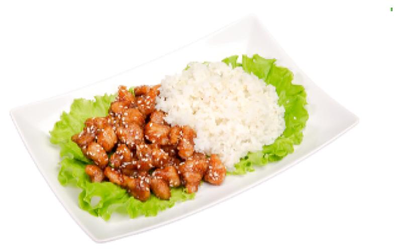 Цыпленок «По-азиатски» с рисом