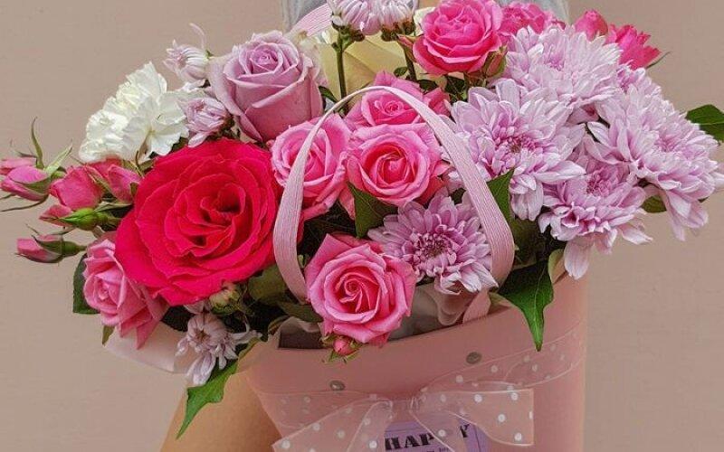 Коробка с цветами №168