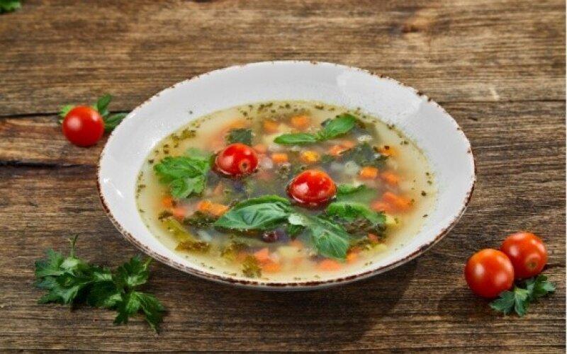 Суп с чечевицей и овощами