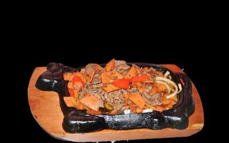 Свинина Те Бань Шао с овощами