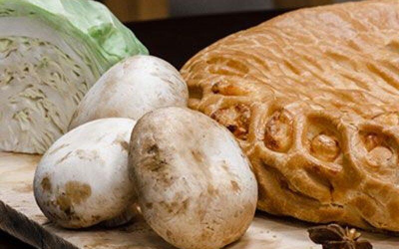 Пирог Капуста с грибами
