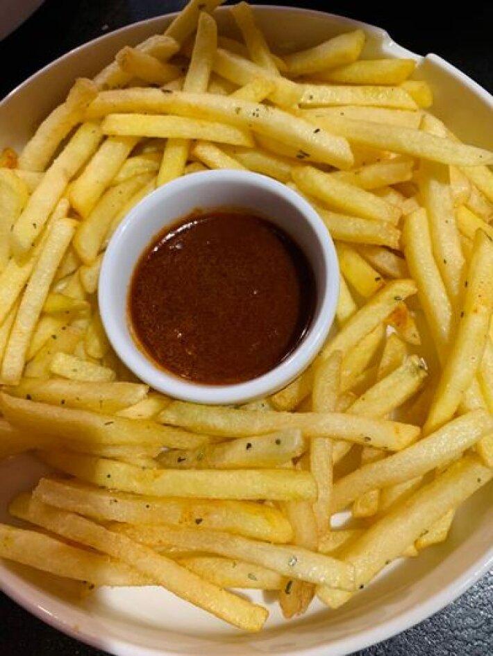 Картофель фри с соусомBBQ