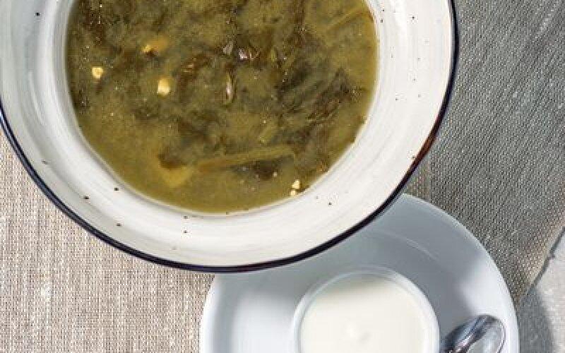 Щавелевый суп со шпинатом