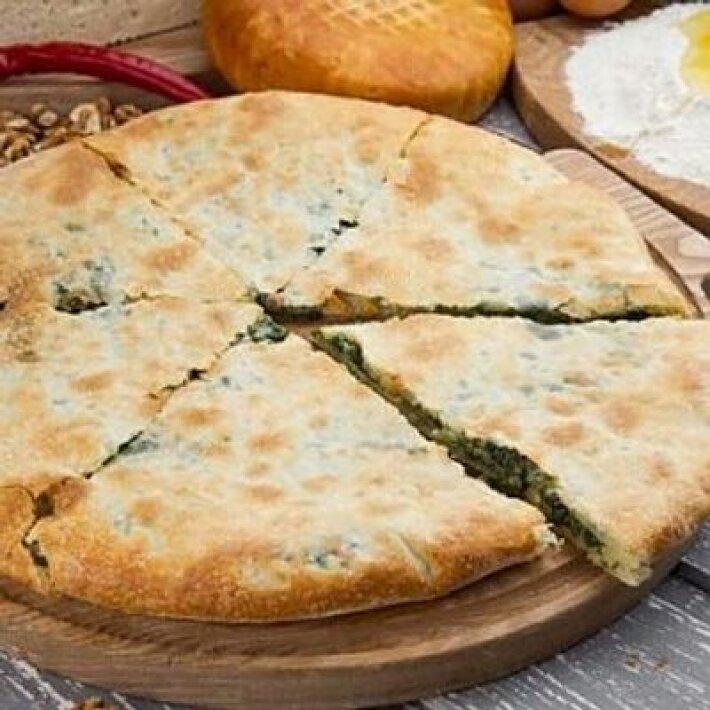 Пирог шпинат с сырами